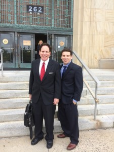 Howard and Jason outside of Court